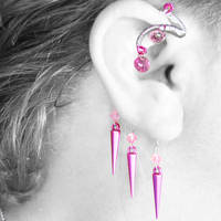 Pink Ear Wrap- SOLD by YouniquelyChic