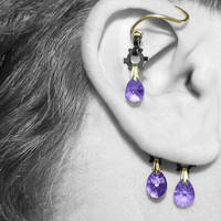 Purple Industrial Ear Wrap V5- SOLD by YouniquelyChic