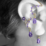 Purple Ear Wrap and Cuff Set v7- SOLD