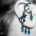 Indicolite Ear Wrap and Cuff v12- SOLD