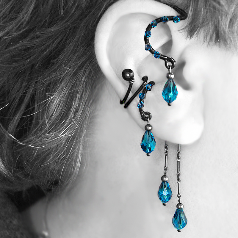 Indicolite Ear Wrap and Cuff v13- SOLD by YouniquelyChic