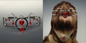 Red heart tiara