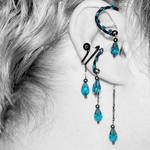 Indicolite ear wrap and cuff v16- SOLD