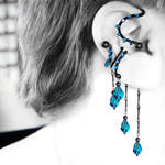 Indicolite Ear Wrap and Cuff Set v19- SOLD