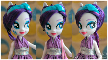 EQUESTRIA GIRLS Rarity doll repaint by Antych