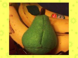 Felt Pear by AlwaysLoveLorn