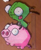 Ride the Pig Perler by AlwaysLoveLorn