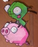 Ride the Pig Perler