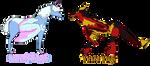 Wing Shop NPCs concept by SparkleWolf404