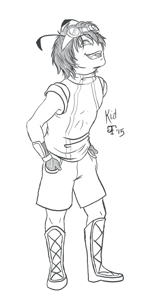 QnD-Kid Sketch by GuruOfNonsense