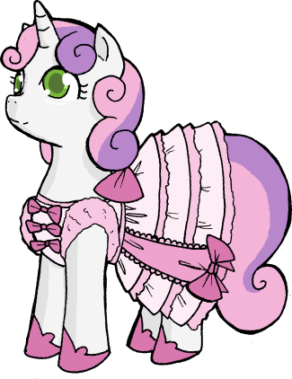 Sweetie Belle in a Frilly Dress by Deathdog3000