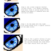 Eye Colouring for Pixel Art. by Deathdog3000