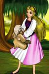 Princess Eilonwy and Gurgi