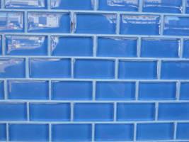 Blue Tile Wall by RosalineStock