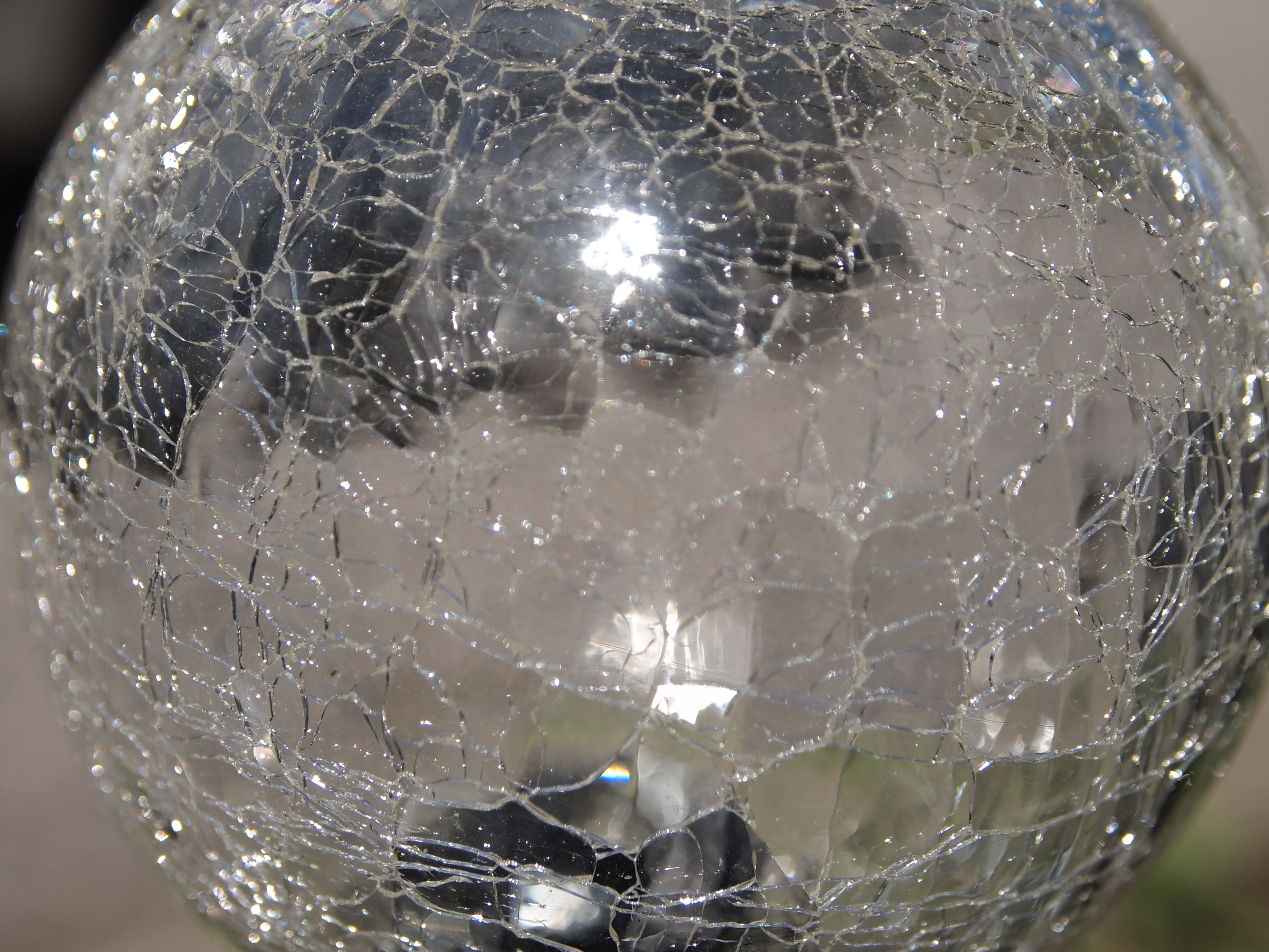Cracked Glass Sphere by RosalineStock