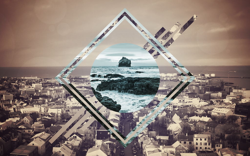 Stylized Polyscape - Iceland by DevynnHageman