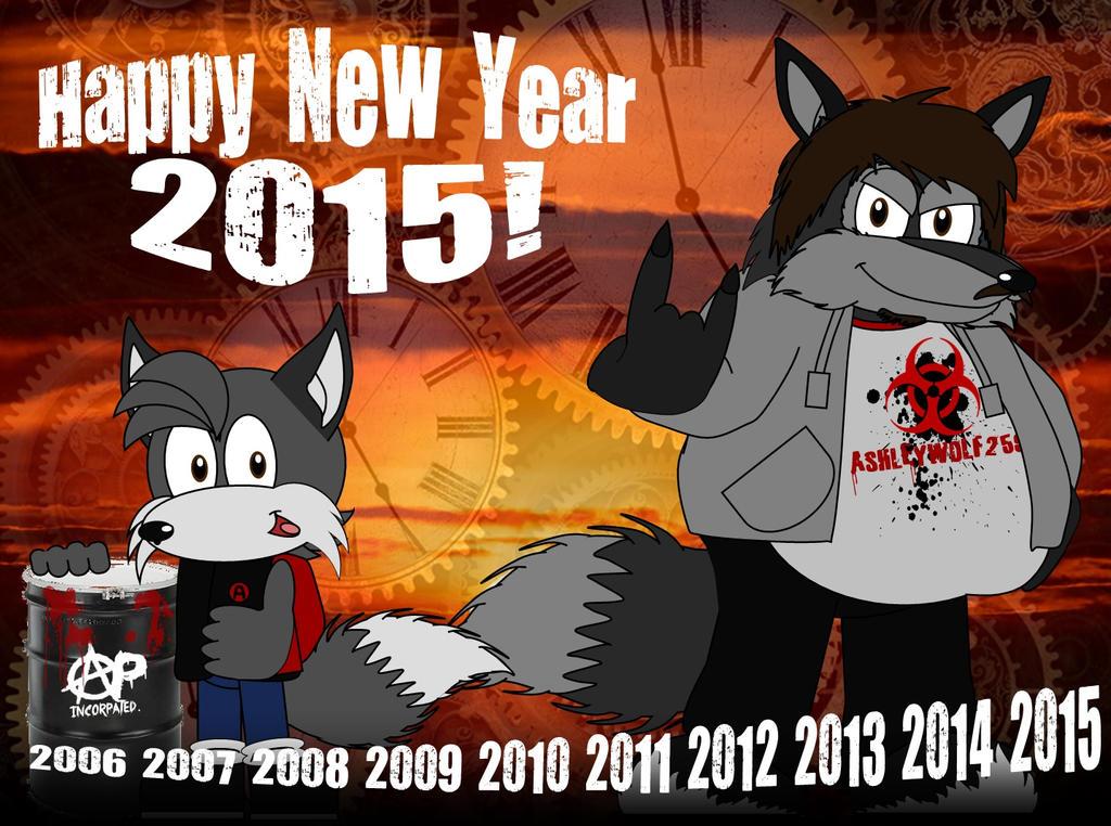 Happy New Year 2015 (10th Anniversary) by AshleyWolf259