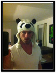 Ian Bohen and his panda hat