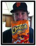 Ian with Cheetos