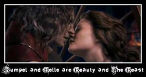 Rumpelstiltskin and Belle Once Upon A Time