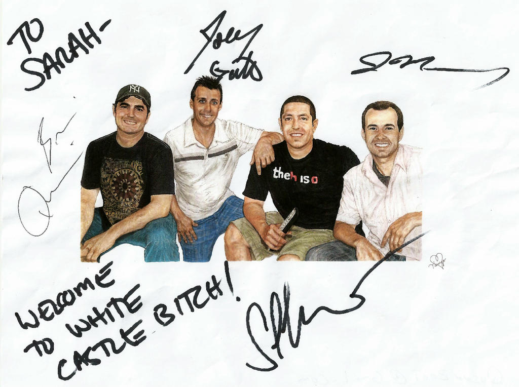 My Impractical Jokers Drawing Signed
