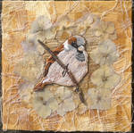 Sparrow Embroidery By Ruth Norbury