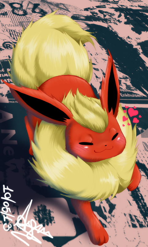 Happy Flareon by SeikaScarlet