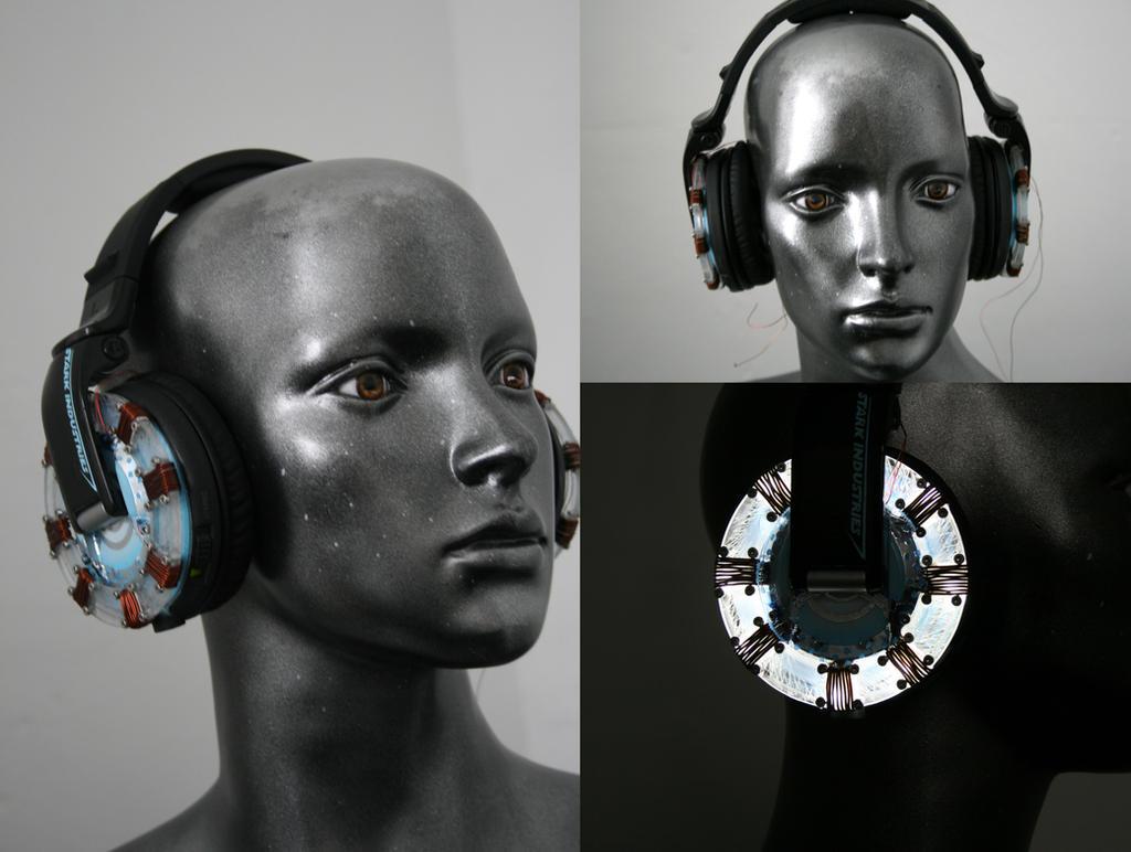 light up headphonnes, Custom arc reactors
