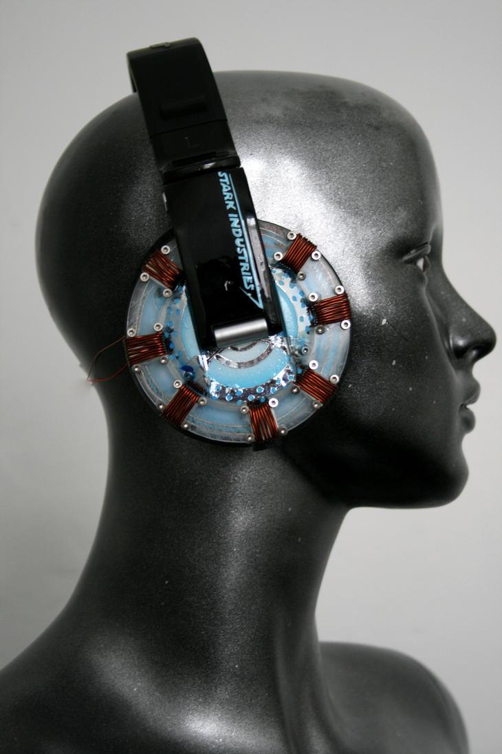 Moded ironman arc reactor pioneer hdj-2000 headphones