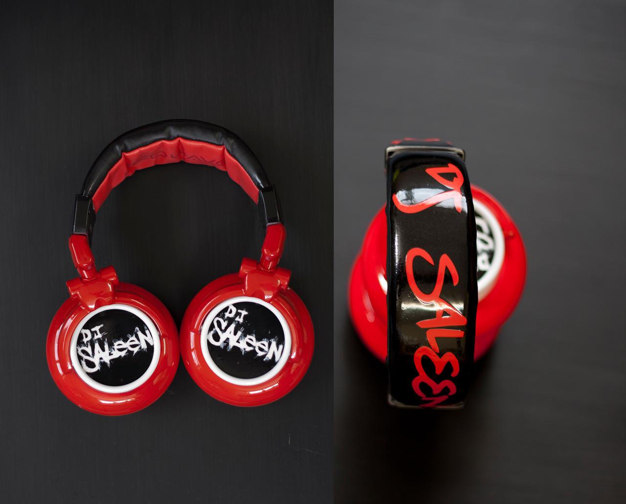 Red Wave newmark dj headphones by DJ-JFunk