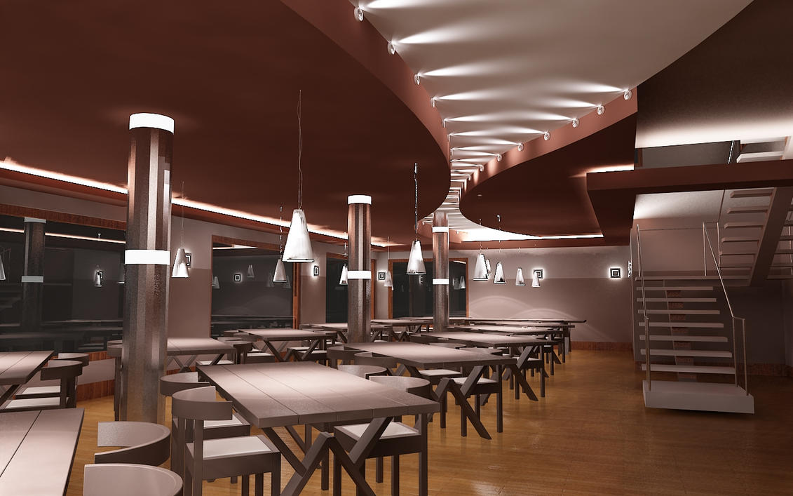 Interior restaurant2 by sayeh-roshan