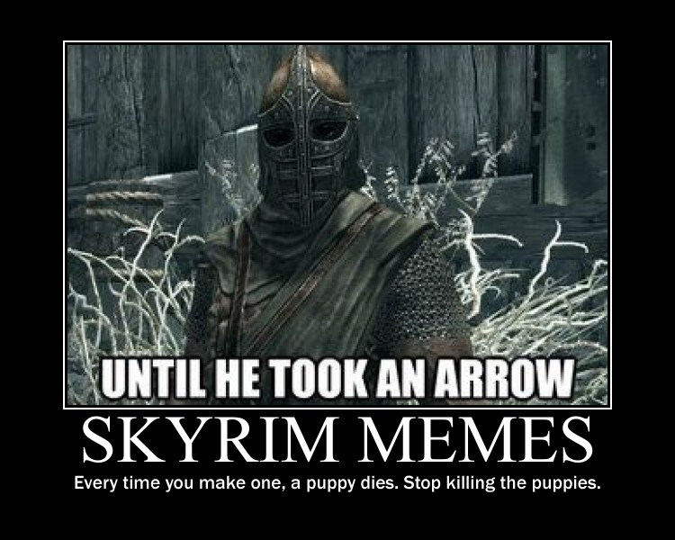 Skyrim Meme Demotivational Poster By TheTyrantDick
