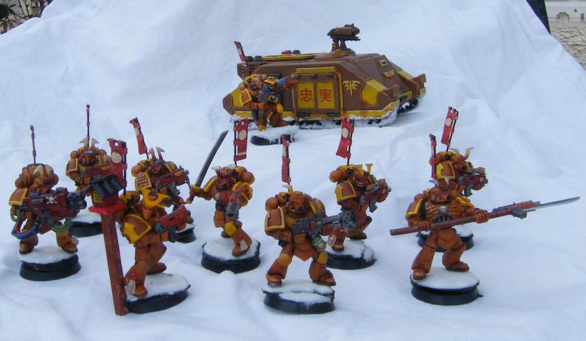 Samurai space marines by Targol on DeviantArt