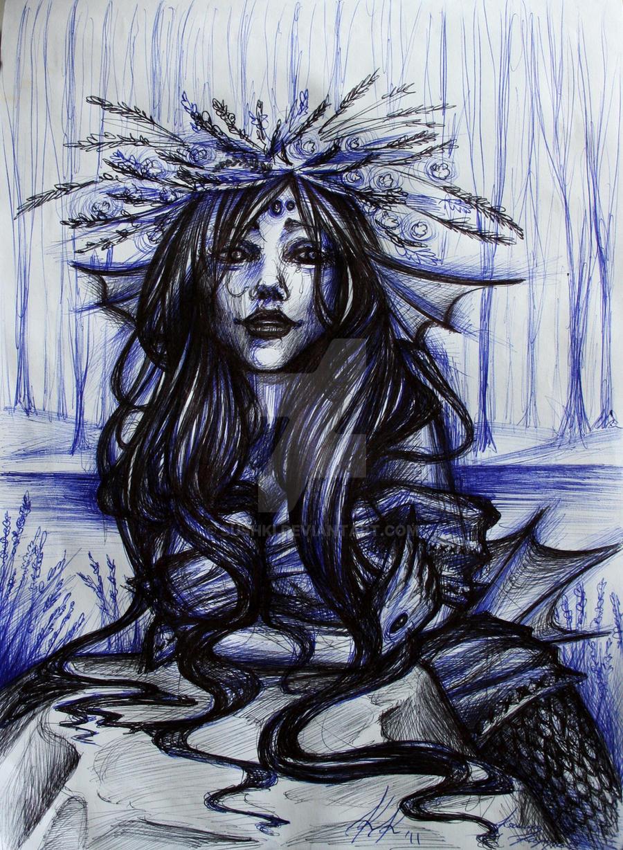 Rusalka Sketch by Sushki