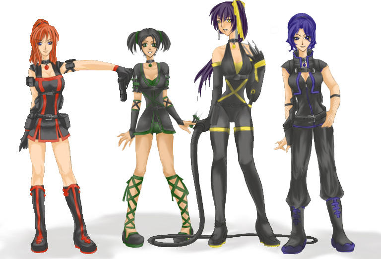 -Hit Back- Ninja Uniforms by KitKatKitsune88
