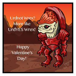 Wrex fights for your love by Capital-J