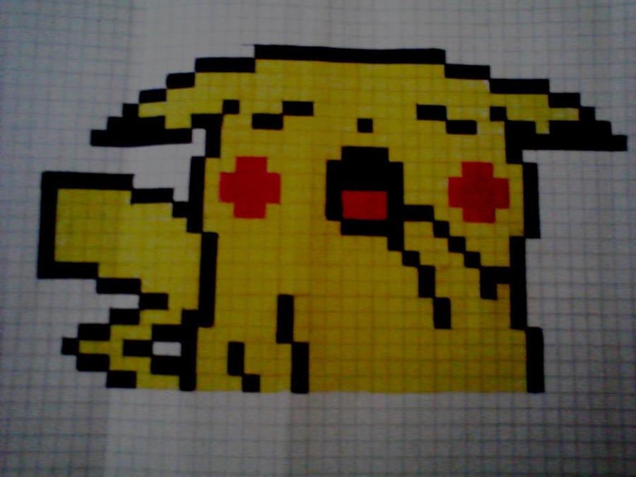 pikachu-pixel by otaku-pain on DeviantArt