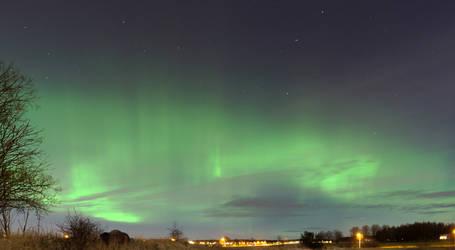 Aurora borealis by DiNoDrAwEr