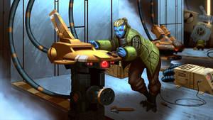 Warhammer Drone Mechanic - COMMISSION by SrEddie