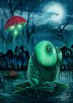 Frog that hates rain