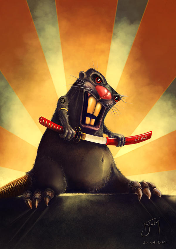 Samurai Beaver by blazi76