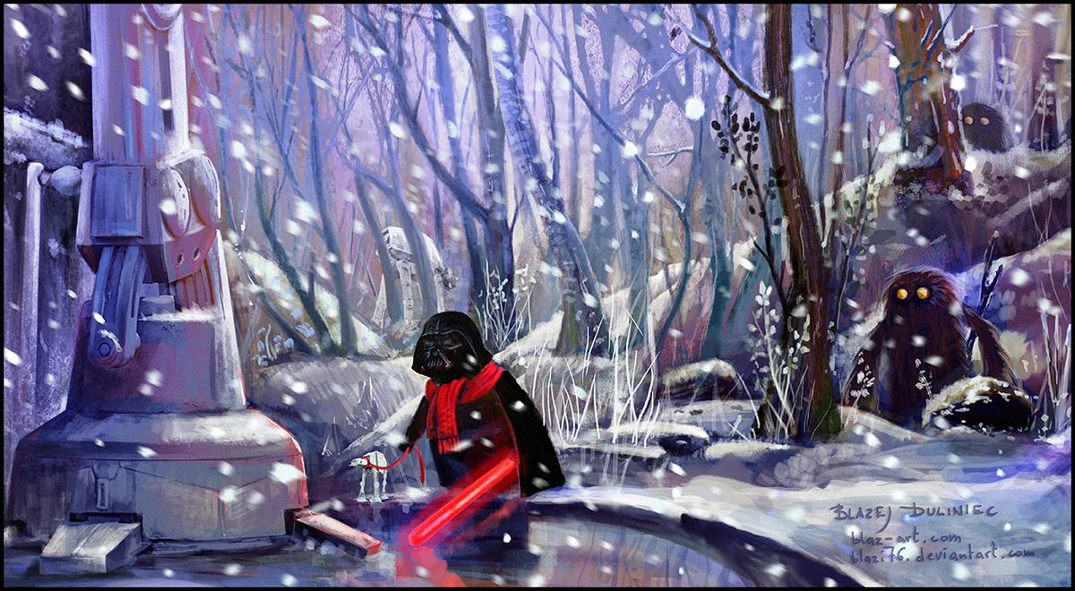 Darth Vader on a walk by blazi76