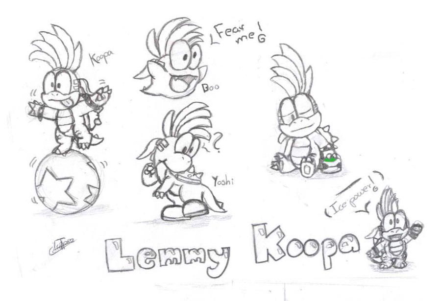 Koopaling Lemmy Coloring Pages Sketch Coloring Page