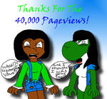 I reached 40,000 Pageviews!!