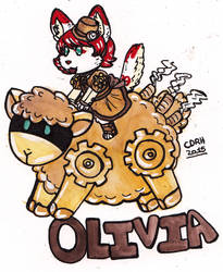 Olivia Sheep Rider by Dollmancer
