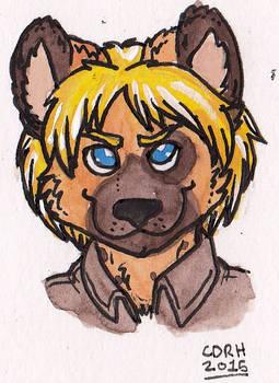 Cial Hyena Bust