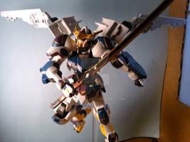 Gundam Cygnus Barbatos (wings open with sword)