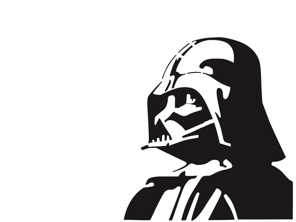 Darth vader by graffitiwatcher on deviantart for Darth vader black and white