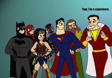 Shazam Meets the Justice League by Hyzenthlay-Rose