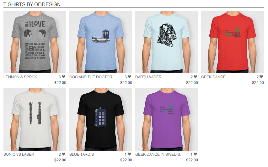 My tees at society6 by nirufe on deviantart for Websites similar to society6